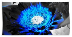 Bath Towel featuring the photograph Sunflower Blues by Patti Whitten