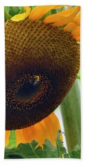 Sunflower Close Up Bath Towel