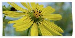 Sunflower Close-up Bath Towel
