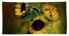 Sunflower Family Bath Towel