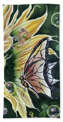 Sunflower Fantasy Hand Towel by Dianna Lewis