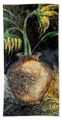 Sunflower Hand Towel by Farzali Babekhan