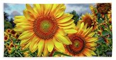 Sunflower Field Bath Towel