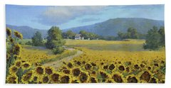 Sunflower Fields Bath Towel