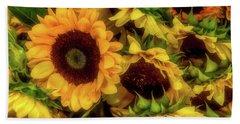 Sunflower Garden Hand Towel