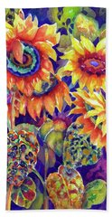 Sunflower Garden I Bath Towel