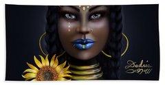 Sunflower Goddess  Bath Towel