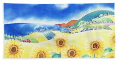 Sunflower Hills Hand Towel