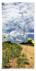 Sunflower Hitchhikers Hand Towel