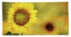 Sunflower In A Field Hand Towel