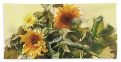 Sunflower In Love - Good Morning America Bath Towel