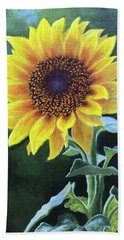 Sunflower Hand Towel by Janet King