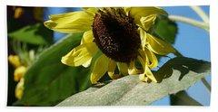 Sunflower, Lemon Queen, With Pollen Bath Towel