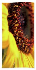 Hand Towel featuring the photograph Sunflower Macro by Jennie Marie Schell