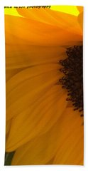 Sunflower Macro Hand Towel