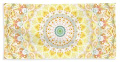 Sunflower Mandala- Abstract Art By Linda Woods Bath Towel