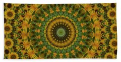 Sunflower Mandala Bath Towel