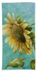 Sunflower Number One Bath Towel