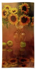 Sunflower Reflections Bath Towel