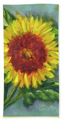 Sunflower Seed Packet Hand Towel