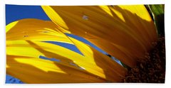 Sunflower Shadows Bath Towel