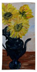 Sunflower Still Life Hand Towel