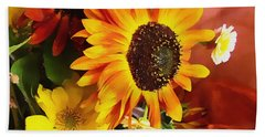 Bath Towel featuring the photograph Sunflower Strong by Kathy Bassett