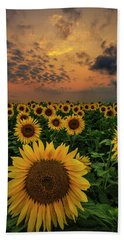 Bath Towel featuring the photograph Sunflower Sunset  by Aaron J Groen