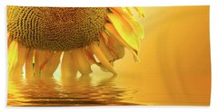 Sunflower Sunset Hand Towel by David French