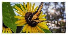 Sunflower Swallowtail Bath Towel