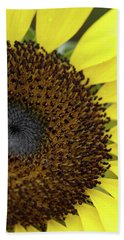 Bath Towel featuring the photograph Sunflower Up Close by Nikki McInnes