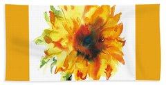 Sunflower With Blues Bath Towel