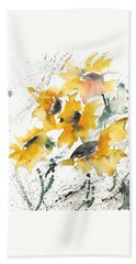 Sunflowers 10 Hand Towel by Ismeta Gruenwald