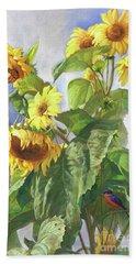 Sunflowers After The Rain Hand Towel