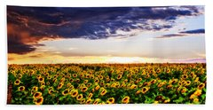 Sunflowers At Sunset Hand Towel