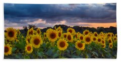 Sunflowers At Sunset Bath Towel