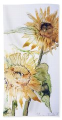Sunflowers II Uncropped Bath Towel