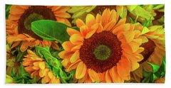 Sunflowers In The Garden Hand Towel