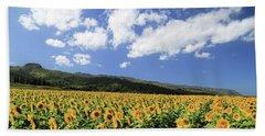 Sunflowers In Waialua Bath Towel