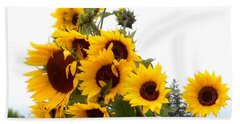Sunflowers Bath Towel by Karen Molenaar Terrell