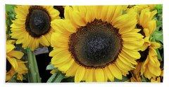 Bath Towel featuring the photograph Sunflowers by Melinda Saminski