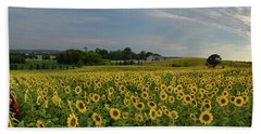 Sunflowers, People, And Pictures 2 Bath Towel