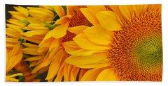Sunflowers Train Hand Towel