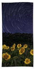 Sunflowers Under The Night Sky Hand Towel