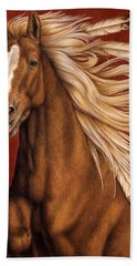 Bath Towel featuring the painting Sunhorse by Pat Erickson