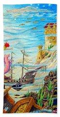 Sunken Ships Bath Towel