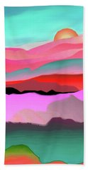 Hand Towel featuring the digital art Sunland 3 by Mary Armstrong