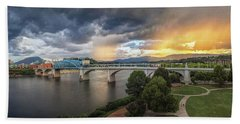 Sunlight And Showers Over Chattanooga Hand Towel