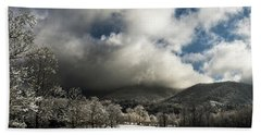 Sunlight Clouds And Snow Bath Towel