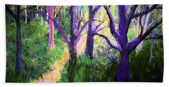 Sunlight In The Forest Bath Towel